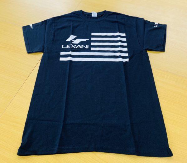 LEXANI US black White LF Tシャツ