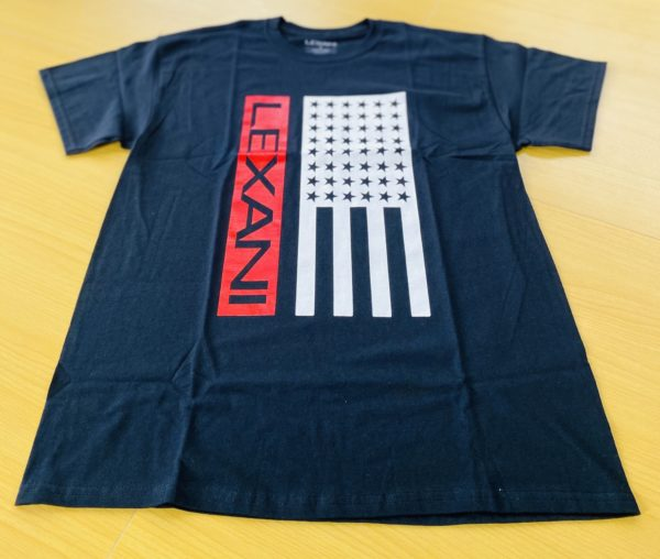 LEXANI US black red Tシャツ