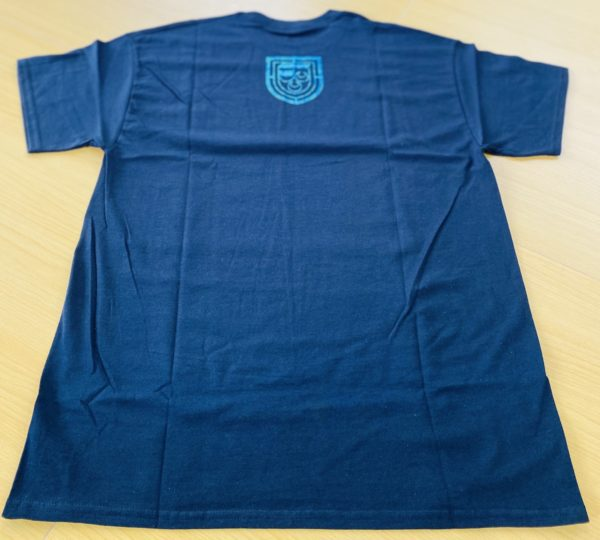 LEXANI US black blue logo Tシャツ