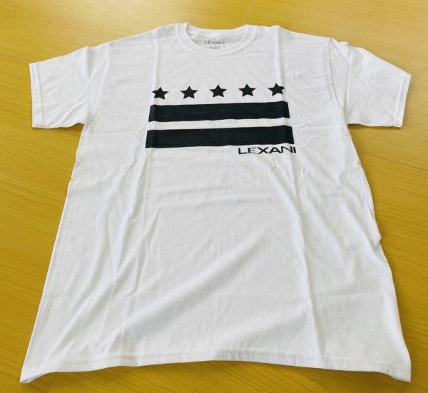 LEXANI US white black Tシャツ