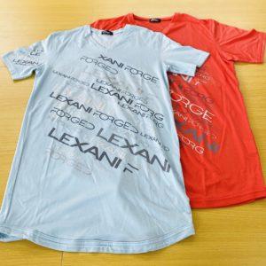 LEXANI EX lexani lightblue・red Tシャツ
