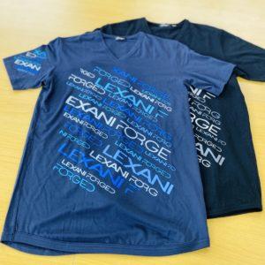 LEXANI EX lexani blue・black Tシャツ
